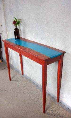 River hall table south Australia river gum blue epoxy resin