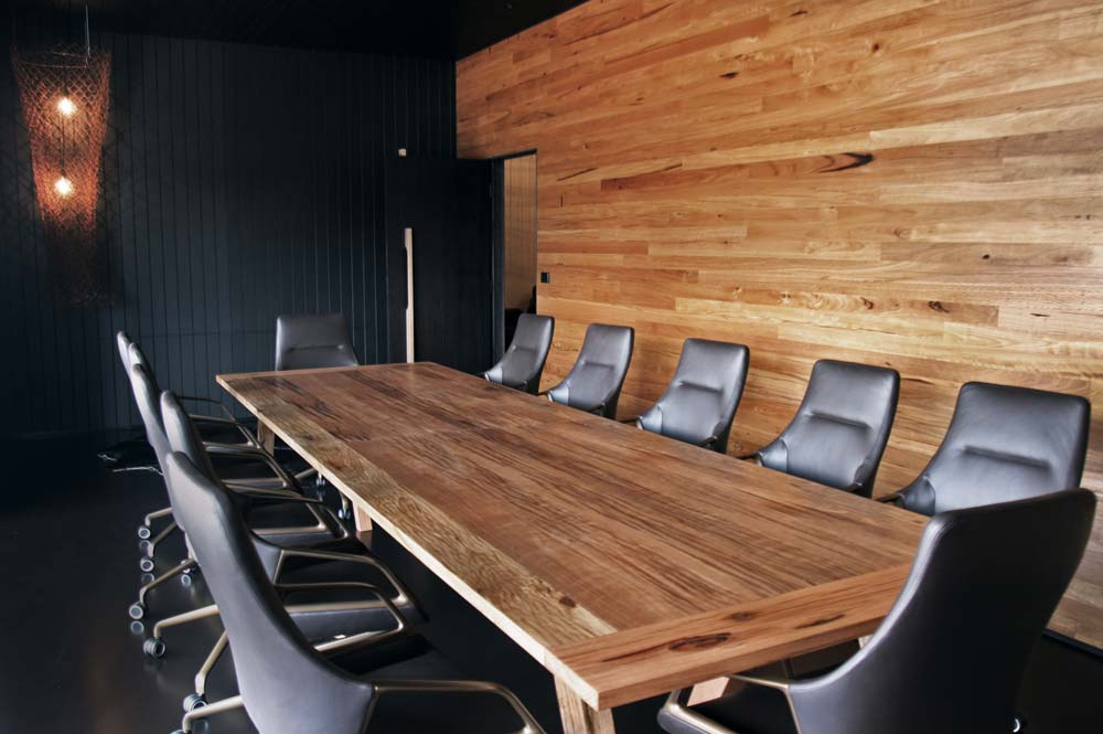 Handmade custom timber boardroom table